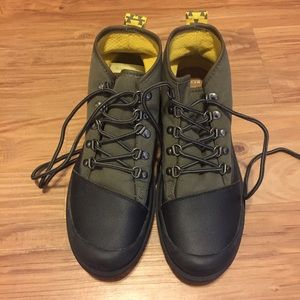 Toms Cordova Green and Black Men's Hiking Boots